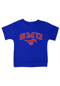 SMU Mustangs Infant Arch T-Shirt - Blue