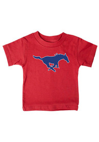 SMU Mustangs Infant Mascot T-Shirt - Red