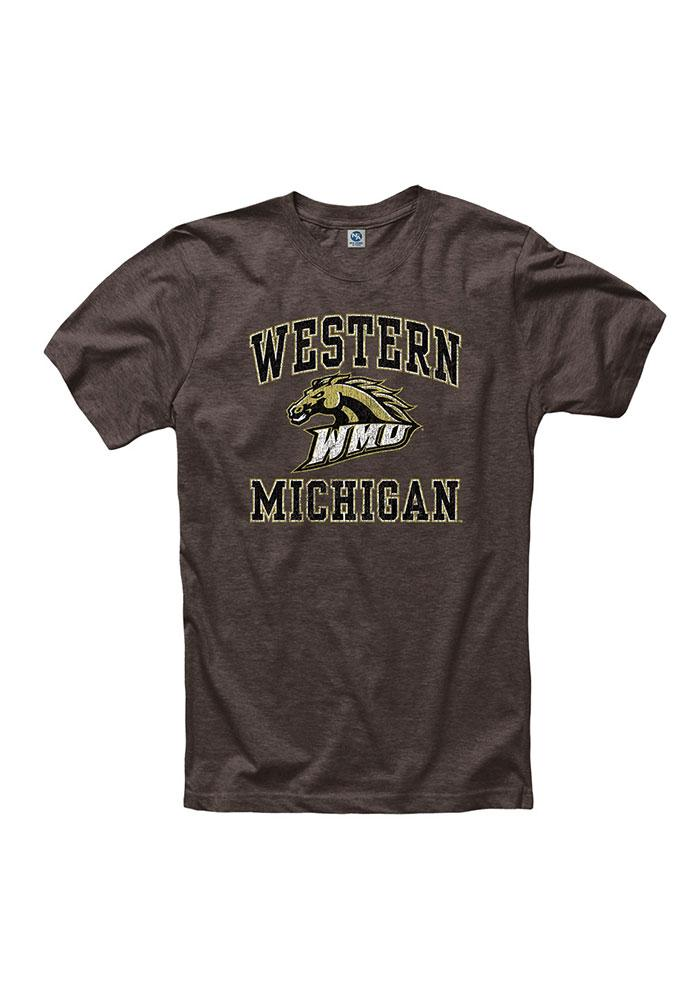 Western Michigan Broncos Mens Brown #1 Short Sleeve T Shirt - Image 1