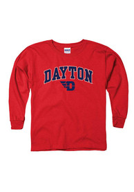 Dayton Flyers Youth Red Arch Mascot T-Shirt