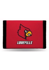 Louisville Cardinals Nylon Trifold Wallet - Red