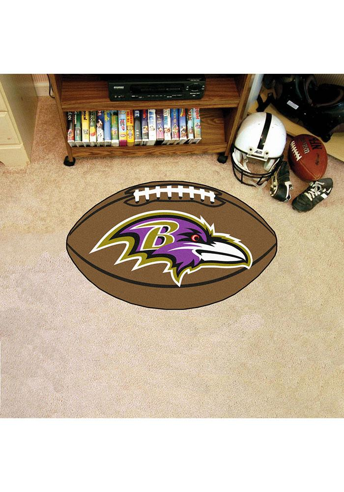Baltimore Ravens 22x35 Football Interior Rug - Image 1