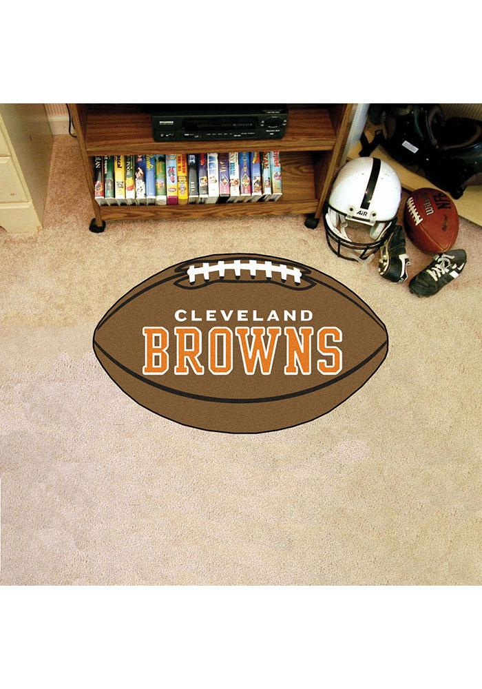 Cleveland Browns 22x35 Football Interior Rug - Image 1