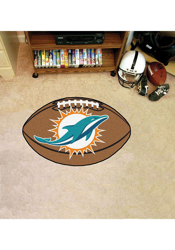 Miami Dolphins 22x35 Football Interior Rug - Image 1