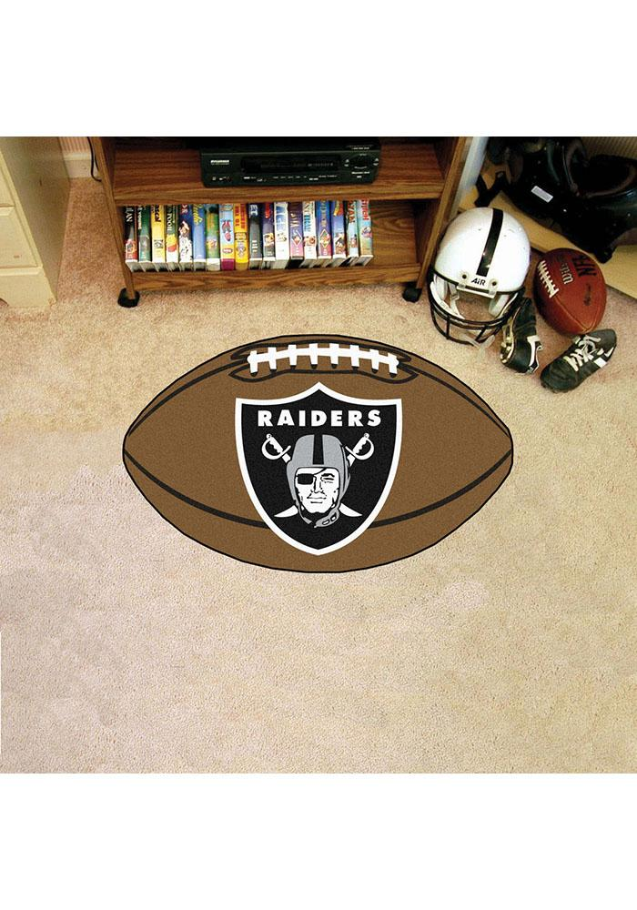Oakland Raiders 22x35 Football Interior Rug - Image 1