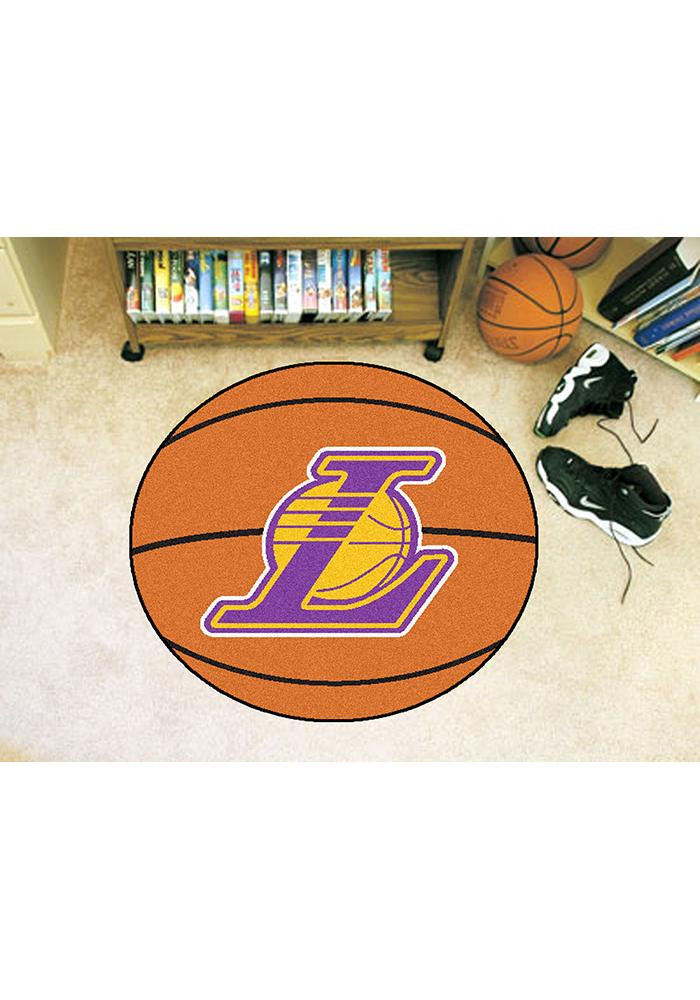 Los Angeles Lakers 27` Basketball Interior Rug - Image 2