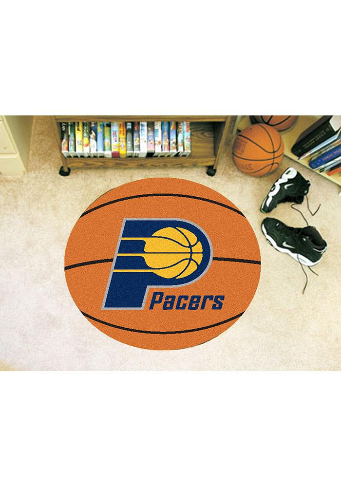 Indiana Pacers 27` Basketball Auto Car Mat - Image 1