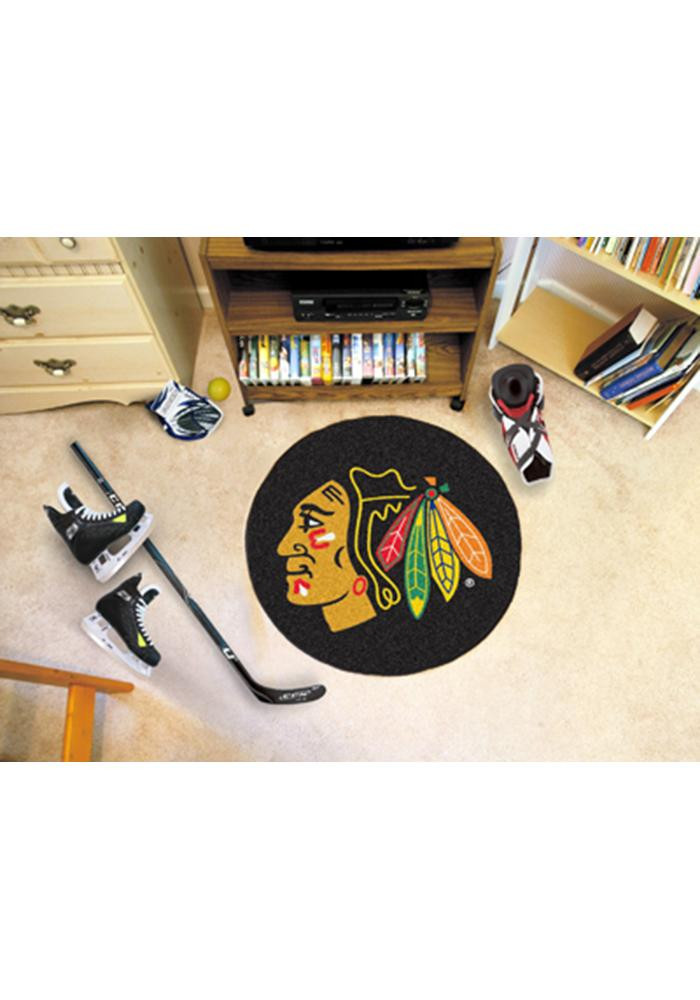 Chicago Blackhawks 27` Puck Auto Car Mat - Image 1