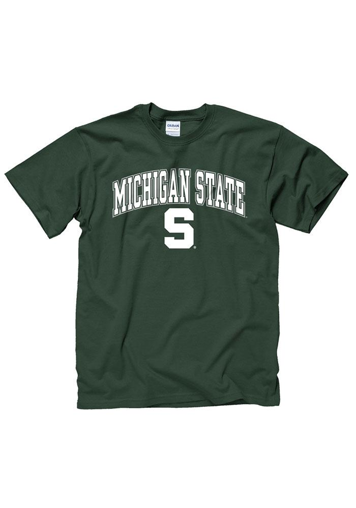 Michigan State Spartans Green Arch Logo Tee