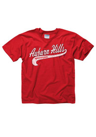 Auburn Hills Youth Red City Tailsweep Short Sleeve T Shirt