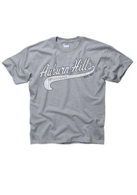Auburn Hills Youth Grey City Tailsweep Short Sleeve T Shirt