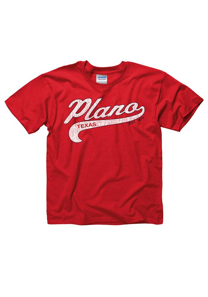 Plano Youth Red City Tailsweep Short Sleeve T Shirt - Image 1