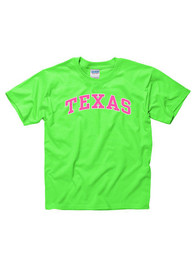 Texas Youth Green Neon Arch Short Sleeve T Shirt