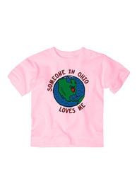 Ohio Toddler Girls Pink Someone Loves Me Short Sleeve T Shirt