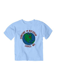 Michigan Toddler Light Blue Someone Loves Me Short Sleeve T Shirt