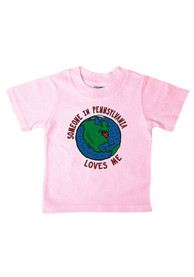 Pennsylvania Infant Someone Loves Me T-Shirt - Pink