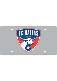 FC Dallas Team Logo Silver Car Accessory License Plate