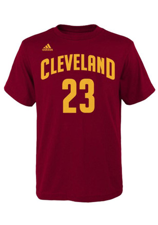 LeBron James Cleveland Cavaliers Mens Maroon Player Tee Player Tee