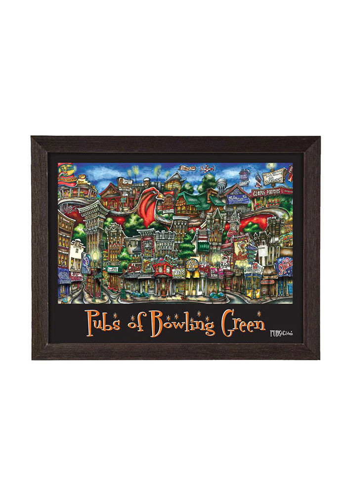 Bowling Green State 12 X 18 Framed Print Wall Art - Image 1