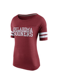 Nike Oklahoma Sooners Juniors Rewind FB Crimson Scoop T-Shirt