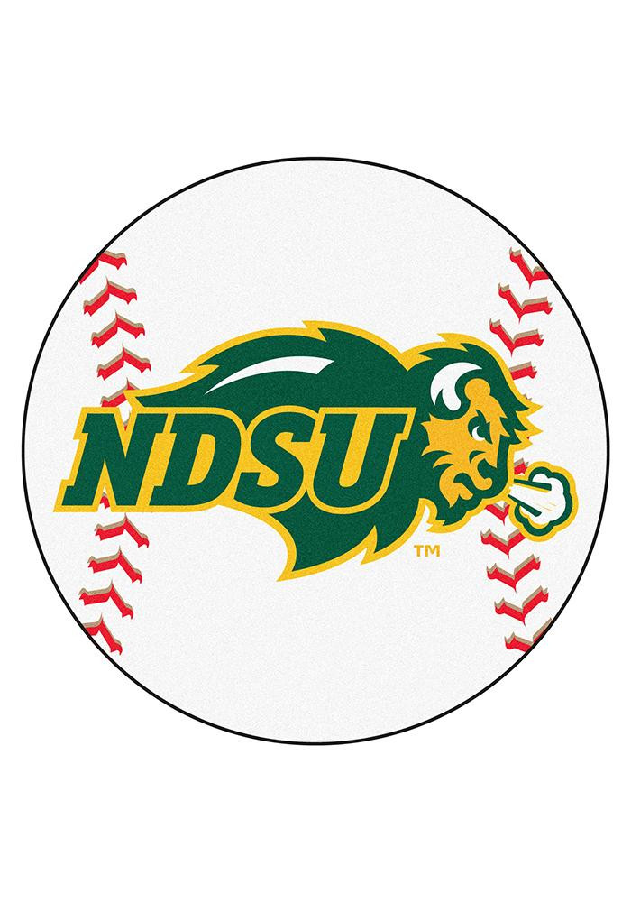 North Dakota State Bison 27` Baseball Interior Rug - Image 1
