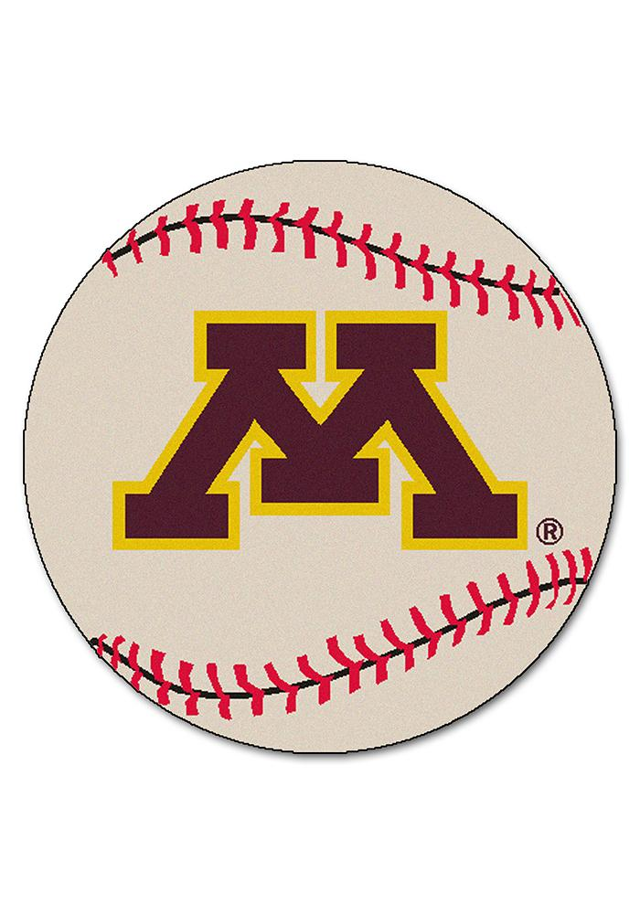 Minnesota Golden Gophers 27` Baseball Interior Rug - Image 1
