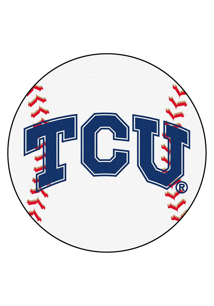 TCU Horned Frogs 27` Baseball Interior Rug - Image 1