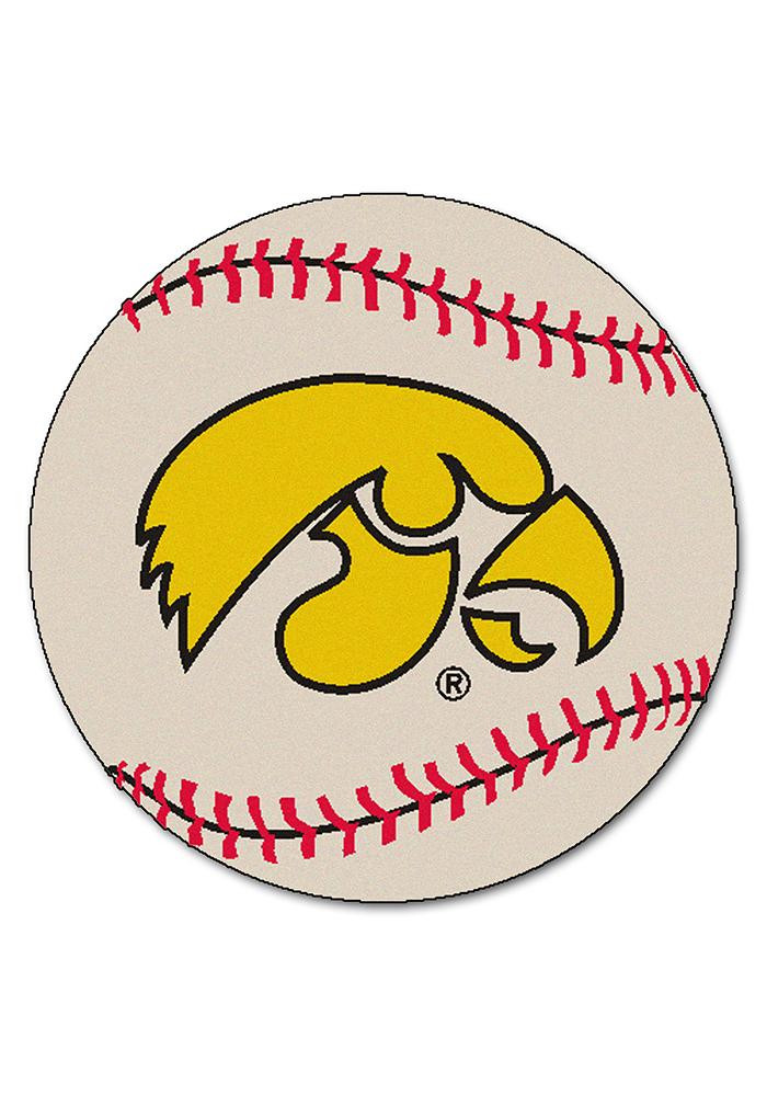 Iowa Hawkeyes 27` Baseball Interior Rug - Image 1
