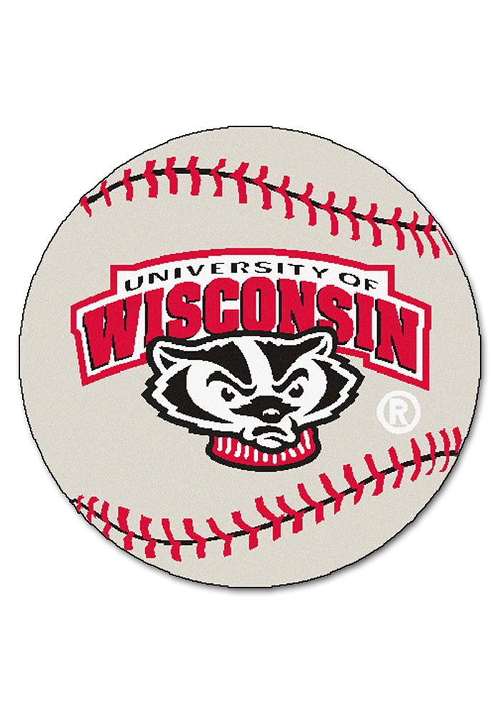 Wisconsin Badgers 27` Baseball Interior Rug - Image 1