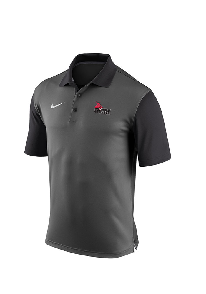 Nike Central Missouri Mules Mens Grey 2015 Pre-Season Polo Short Sleeve Polo - Image 1