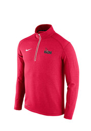 Nike UCM Mens Red Game Day 1/4 Zip Performance Pullover