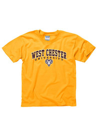 West Chester Golden Rams Youth Gold Midsize Arch T-Shirt