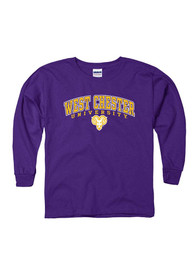 West Chester Golden Rams Youth Purple Midsize Arch T-Shirt