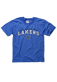 Grand Valley State Lakers Youth Blue Arch Mascot T-Shirt