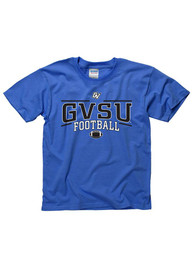 Grand Valley State Lakers Youth Blue Linked Football T-Shirt