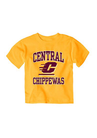 Central Michigan Chippewas Infant #1 T-Shirt - Gold