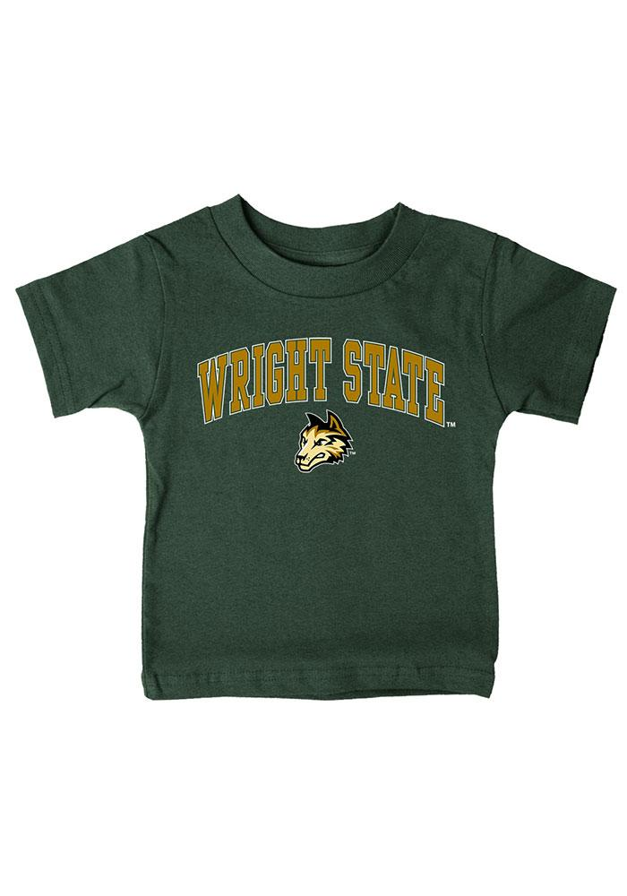 Wright State Raiders Infant Arch Short Sleeve T-Shirt Green - Image 1