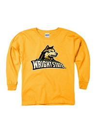 Wright State Raiders Youth Gold Logo N Mark T-Shirt