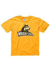 Wright State Raiders Youth Gold Big Logo T-Shirt