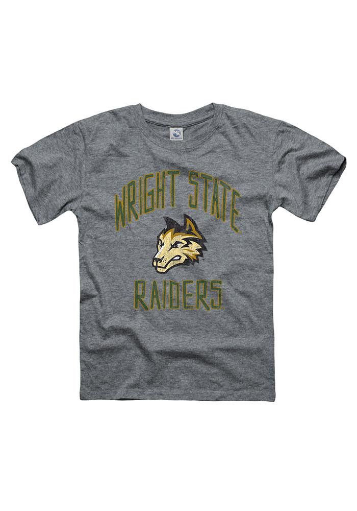 Wright State Raiders Youth Grey Loose Text Short Sleeve Fashion T-Shirt - Image 1