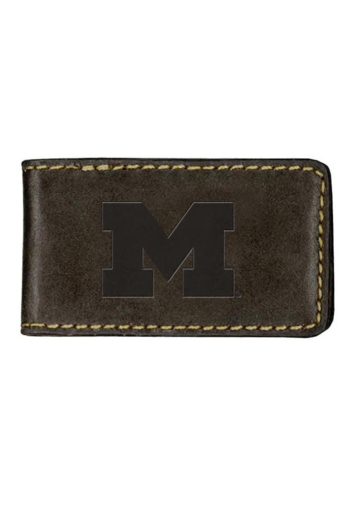 Michigan Wolverines Contrast Stitch Mens Money Clip - Image 1