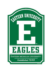 Eastern Michigan Eagles 11x17 Wood Sign