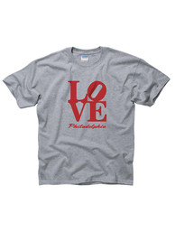 Philadelphia Youth Grey Love Short Sleeve T Shirt