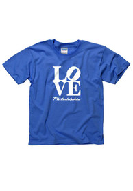Philadelphia Youth Blue Love Short Sleeve T Shirt