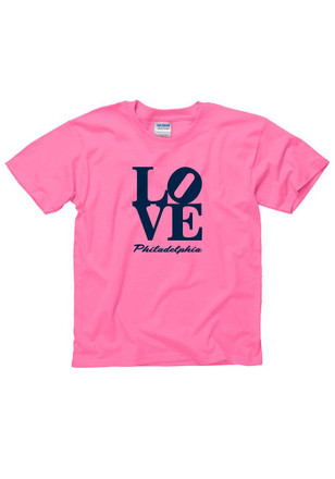 Girls Pink Love Philly T-Shirt