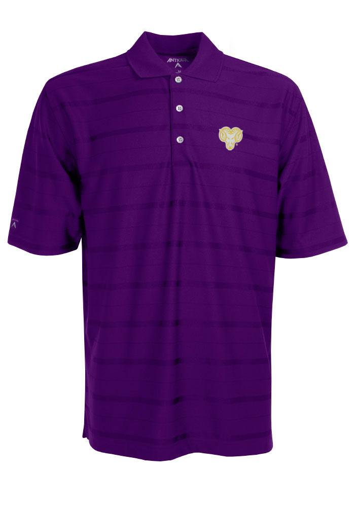 Antigua West Chester Golden Rams Mens Purple Tone Short Sleeve Polo, Purple, 100% POLYESTER, Size M