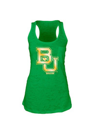 Baylor Bears Juniors Green Pocket Burn Tank Top