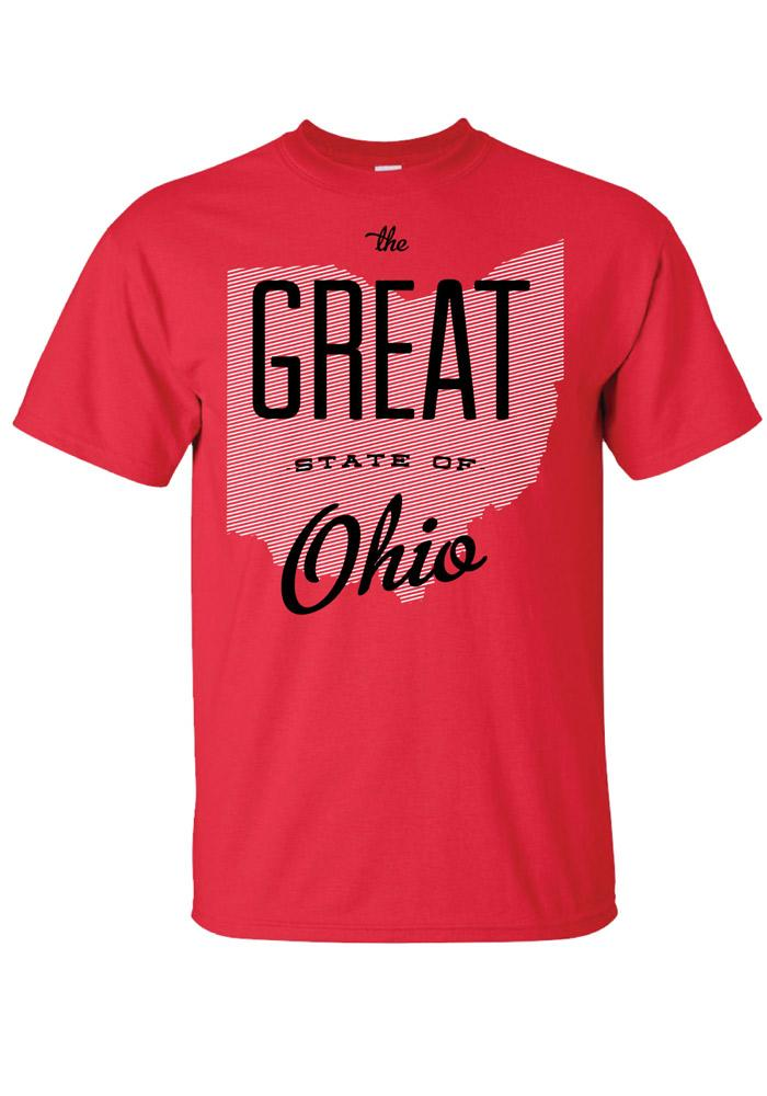 Ohio Red The Great State Of Short Sleeve T Shirt