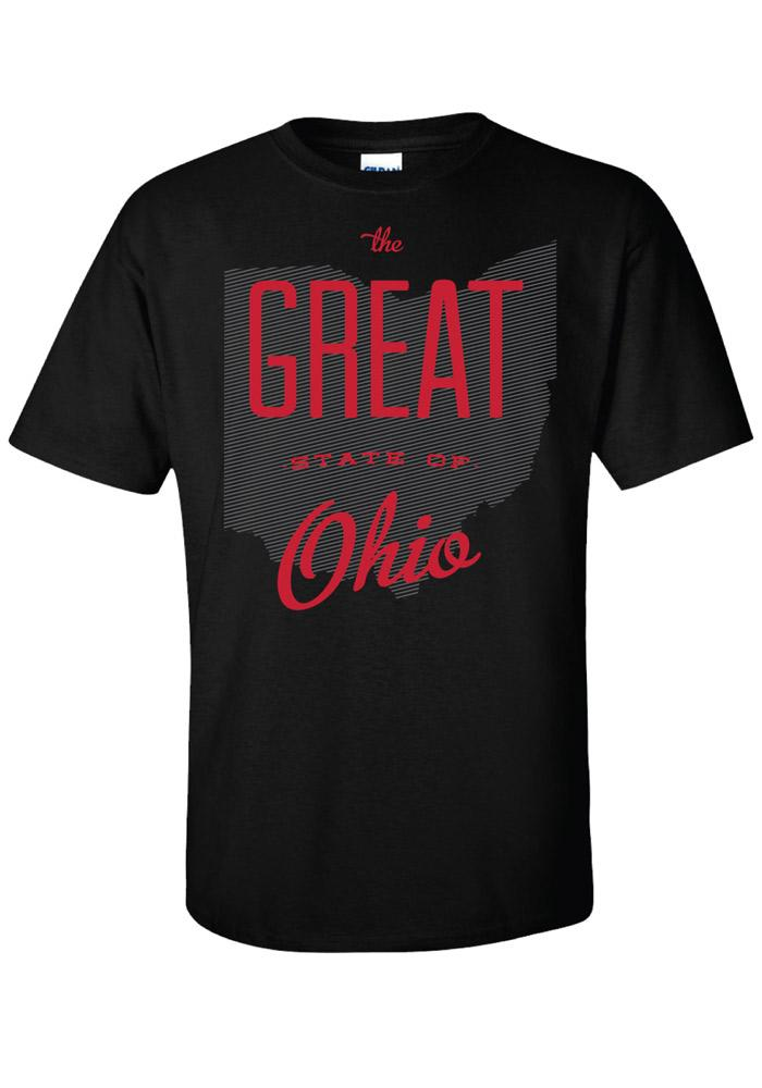 Ohio Black The Great State Of Short Sleeve T Shirt - Image 1