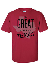 Texas Red The Great State of Short Sleeve T Shirt